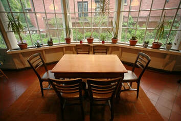 non-profit meeting space: kitchen
